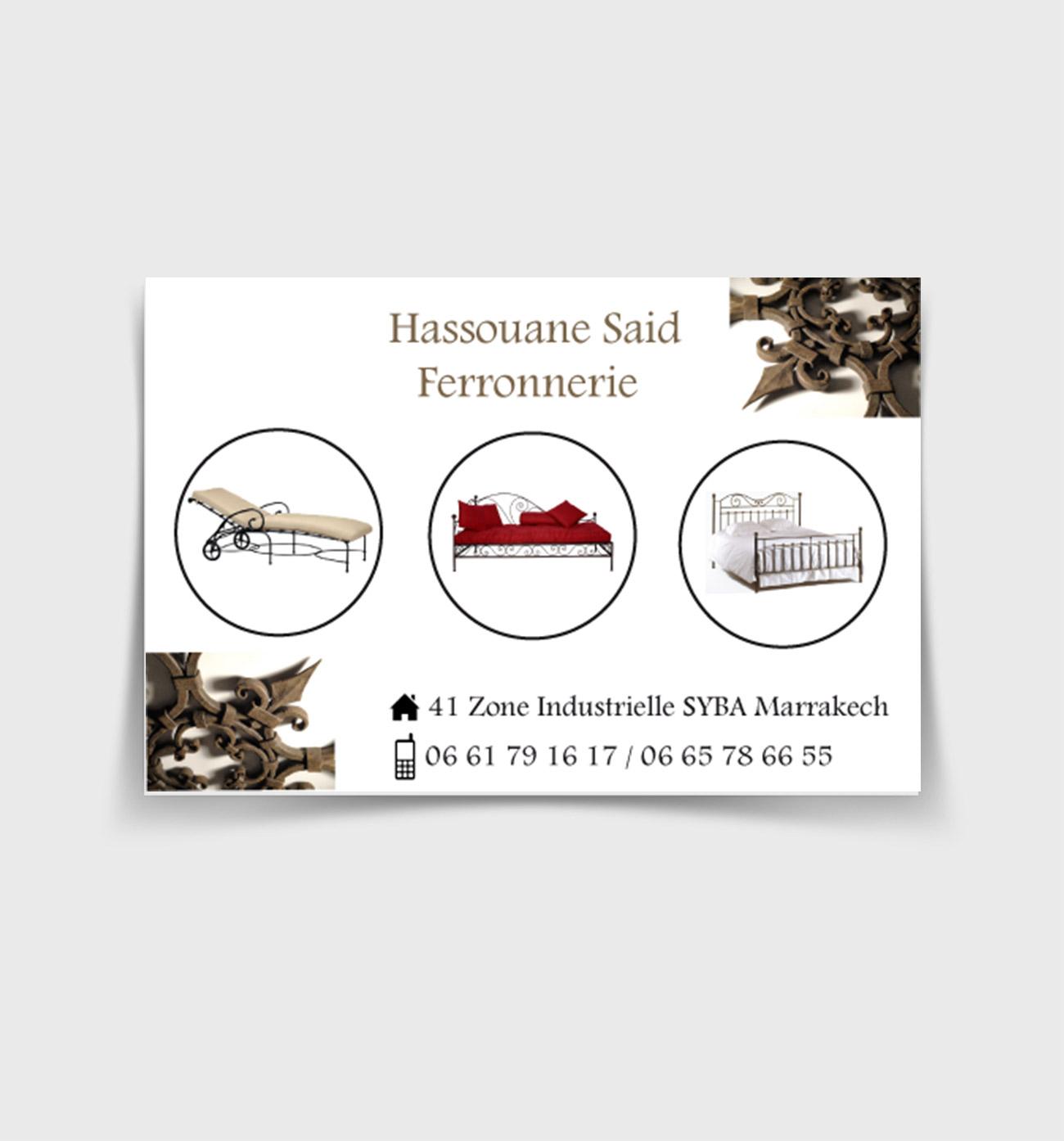 Hassouane said Ferronnerie